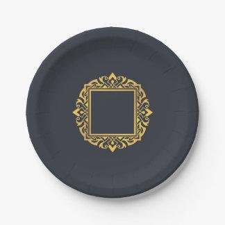 Assiettes En Papier Créez pour posséder l'or gris élégant de