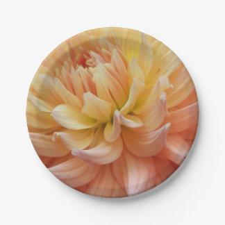 Assiettes En Papier Dahlia rougeoyant floral