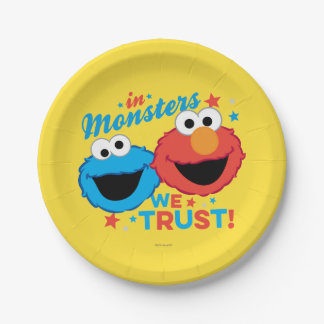 Assiettes En Papier Dans les monstres nous faisons confiance !