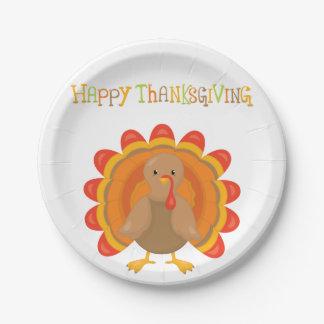 Assiettes En Papier Dîner de jour de bon thanksgiving