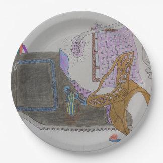 Assiettes En Papier Divan et chaise dans l'intérieur