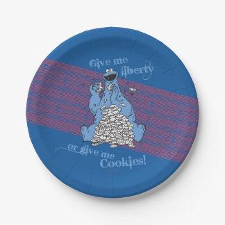Assiettes En Papier Donnez-moi la liberté ou donnez-moi les biscuits !