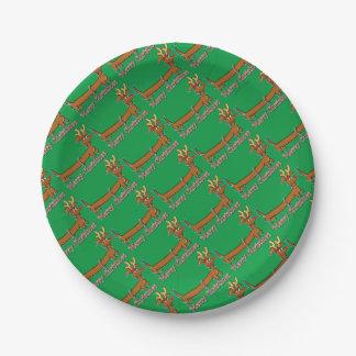 Assiettes En Papier Doxie-Joyeux-Noël