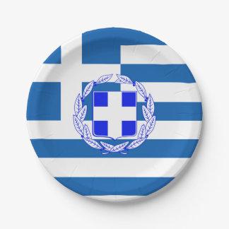 Assiettes En Papier Drapeau de la Grèce
