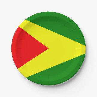 Assiettes En Papier Drapeau de la Guyane