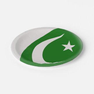 Assiettes En Papier Drapeau de Pakistanais du Pakistan