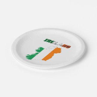Assiettes En Papier Drapeau de pays irlandais