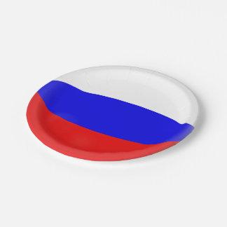 Assiettes En Papier Drapeau de Russe de la Russie