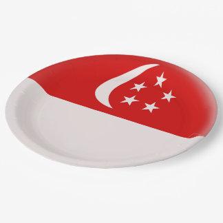 Assiettes En Papier Drapeau de Singapourien de Singapour Singapura