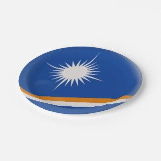 Assiettes En Papier Drapeau des Marshall Islands