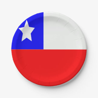 Assiettes En Papier Drapeau du Chili