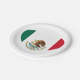 Assiettes En Papier Drapeau mexicain