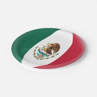 Assiettes En Papier Drapeau mexicain du Mexique