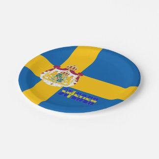 Assiettes En Papier Drapeau suédois