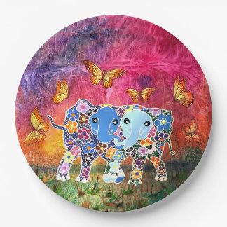 Assiettes En Papier Éléphants de danse