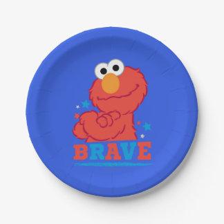 Assiettes En Papier Elmo courageux