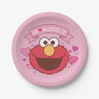 Assiettes En Papier Elmo | mon coeur appartient à Elmo