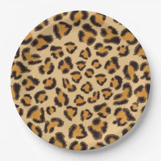 Assiettes En Papier Empreinte de léopard