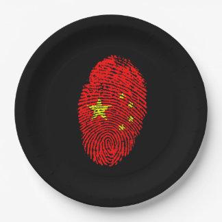 Assiettes En Papier Empreinte digitale chinoise