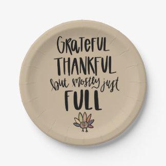 Assiettes En Papier En grande partie juste plein plat de thanksgiving