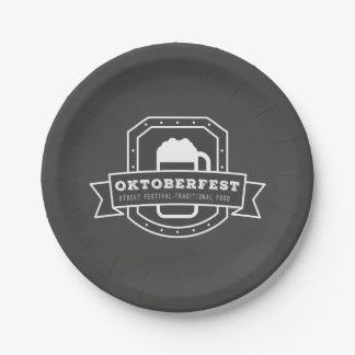 Assiettes En Papier Festival de rue d'Oktoberfest sur le tableau