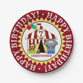 Assiettes En Papier Fête d'anniversaire de carnaval de cirque