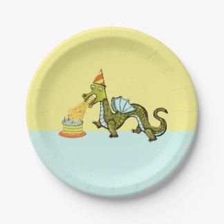 Assiettes En Papier fête d'anniversaire de dragon