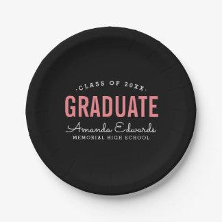 Assiettes En Papier Fête de remise des diplômes personnalisée par