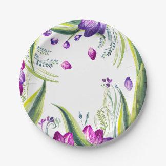 Assiettes En Papier Feuille et fleurs tropicaux pour votre maison