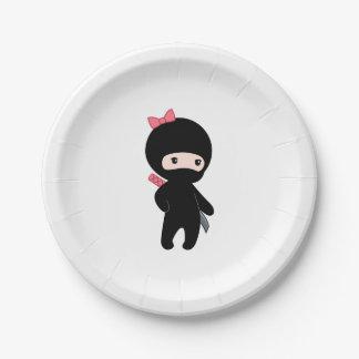 Assiettes En Papier Fille minuscule de Ninja