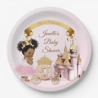 Assiettes En Papier Fille royale de princesse Castle Carriage Pink