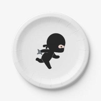 Assiettes En Papier Fonctionnement minuscule de Ninja