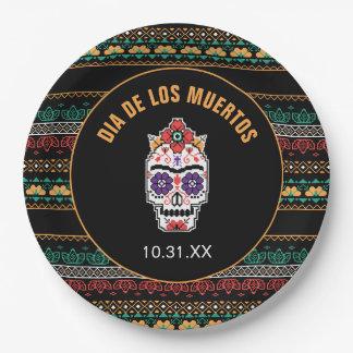 Assiettes En Papier Frida Kahlo | Dia De Los Muertos