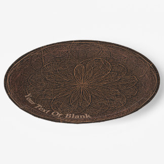 Assiettes En Papier Glaçage de chocolat