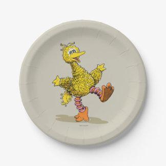 Assiettes En Papier Grand oiseau 2 de rétro art