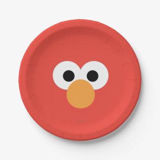 Assiettes En Papier Grand visage d'Elmo