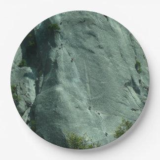 Assiettes En Papier Grimpeurs de roche sur l'EL Capitan