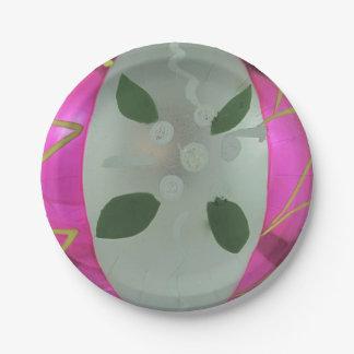 Assiettes En Papier Gui en verre vintage de boule de Noël de Mercury