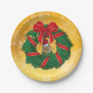 Assiettes En Papier Guirlande mignonne de Noël de tamia