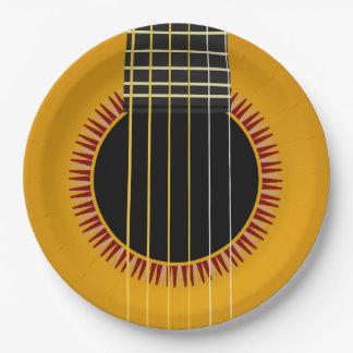 Assiettes En Papier Guitare acoustique