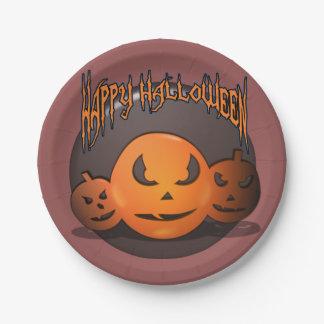 Assiettes En Papier Halloween heureux