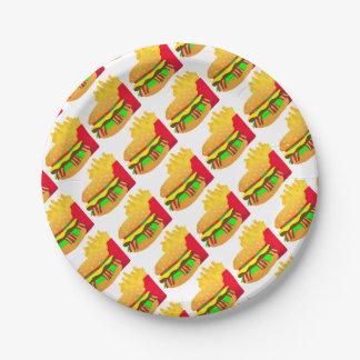Assiettes En Papier Hamburger et fritures
