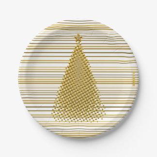 """Assiettes En Papier HAMbyWG - plaques à papier 7"""" - arbre de Noël"""