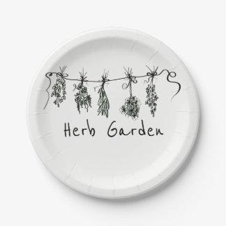 Assiettes En Papier Herbes de jardin