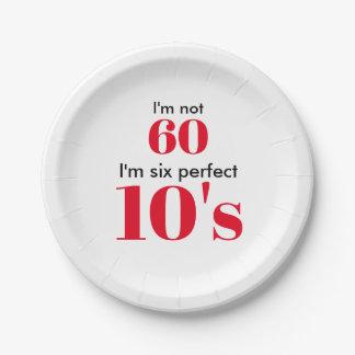 """Assiettes En Papier I """" m non 60 je suis les six années 10 parfaites"""