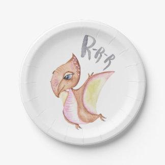 Assiettes En Papier Illustration de dinosaure
