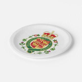 Assiettes En Papier Insigne royal du Pays de Galles