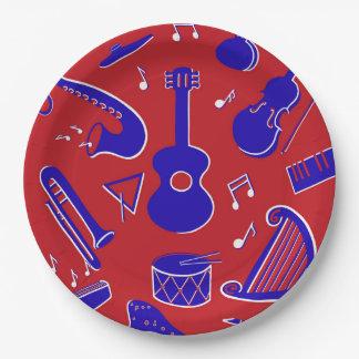 Assiettes En Papier Instruments de musique