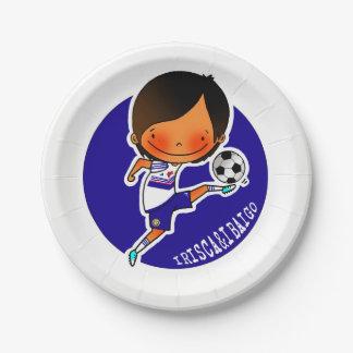 Assiettes En Papier IRISCA&IBAIGO Plaque football