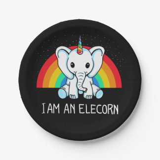 Assiettes En Papier Je suis un Elecorn